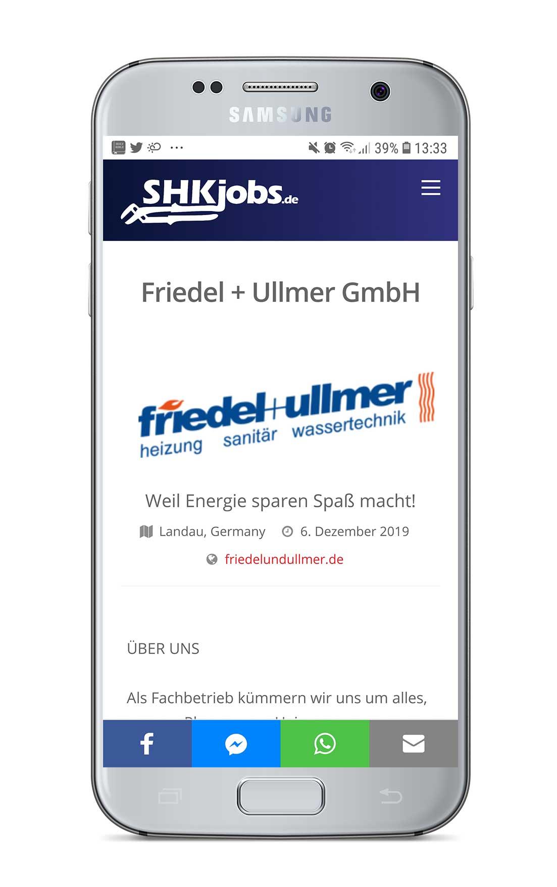 Firmenprofil erstellen auf SHKjobs.de